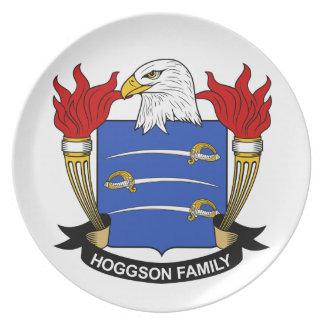 Escudo de la familia de Hoggson Platos Para Fiestas