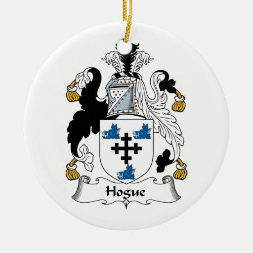 Escudo de la familia de Hogue Adorno De Navidad