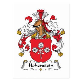 Escudo de la familia de Hohenstein Postales