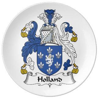 Escudo de la familia de Holanda Platos De Cerámica