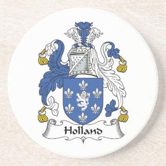 Escudo de la familia de Holanda Posavasos Personalizados