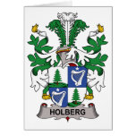 Escudo de la familia de Holberg Felicitación
