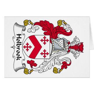 Escudo de la familia de Holbrook Felicitación