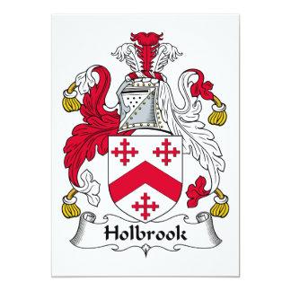 Escudo de la familia de Holbrook Invitación 12,7 X 17,8 Cm