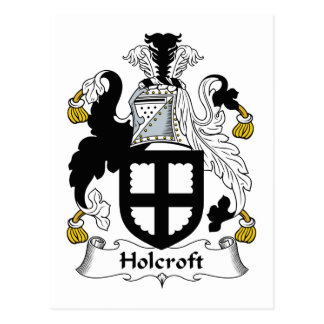 Escudo de la familia de Holcroft Tarjetas Postales