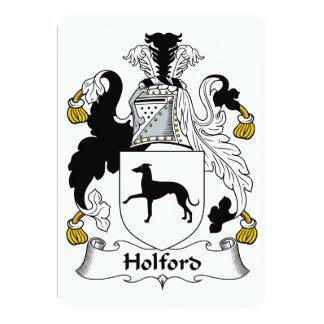 """Escudo de la familia de Holford Invitación 5"""" X 7"""""""