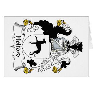Escudo de la familia de Holford Tarjeta De Felicitación