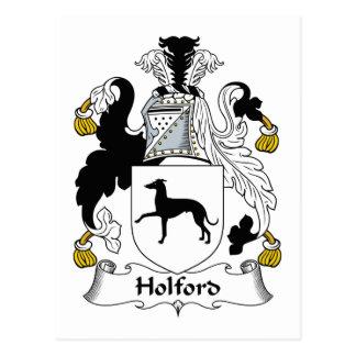 Escudo de la familia de Holford Tarjeta Postal