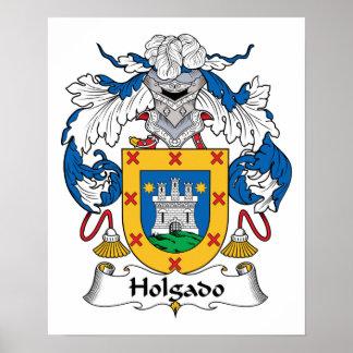 Escudo de la familia de Holgado Posters