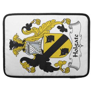 Escudo de la familia de Holgate Fundas Para Macbooks