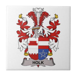 Escudo de la familia de Holk Azulejo Cerámica