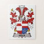 Escudo de la familia de Holk Rompecabezas Con Fotos