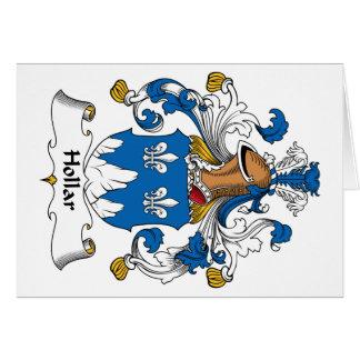 Escudo de la familia de Hollar Felicitacion