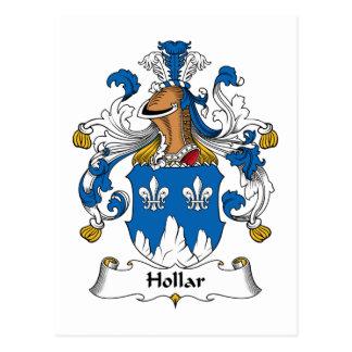 Escudo de la familia de Hollar Postal