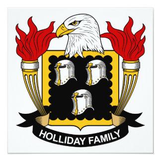"""Escudo de la familia de Holliday Invitación 5.25"""" X 5.25"""""""