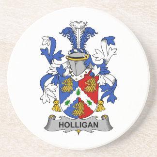 Escudo de la familia de Holligan Posavasos Personalizados