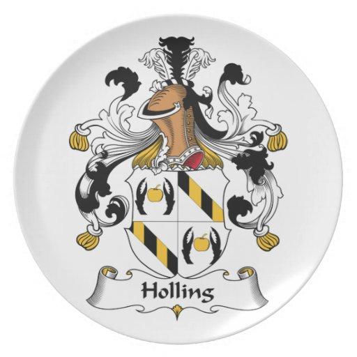 Escudo de la familia de Holling Platos