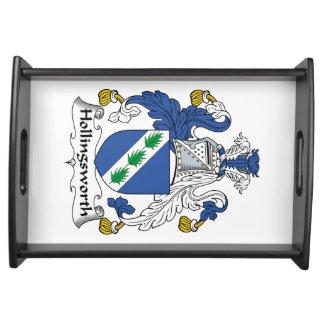 Escudo de la familia de Hollingsworth Bandejas