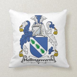 Escudo de la familia de Hollingsworth Cojín