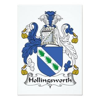 """Escudo de la familia de Hollingsworth Invitación 5"""" X 7"""""""