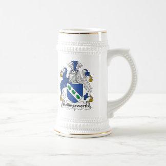 Escudo de la familia de Hollingsworth Jarra De Cerveza