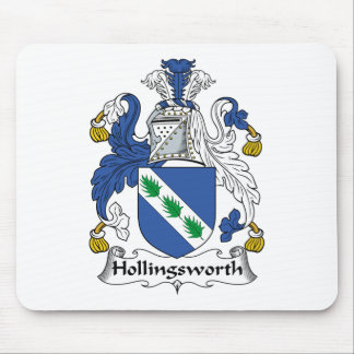 Escudo de la familia de Hollingsworth Tapete De Ratón