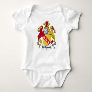Escudo de la familia de Hollowell Body Para Bebé