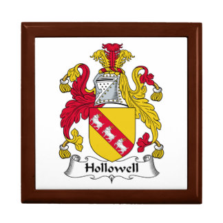Escudo de la familia de Hollowell Cajas De Regalo