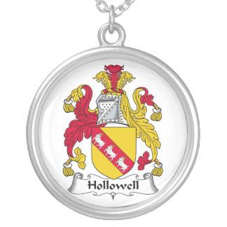 Escudo de la familia de Hollowell Collar Plateado