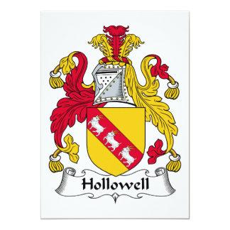 """Escudo de la familia de Hollowell Invitación 5"""" X 7"""""""