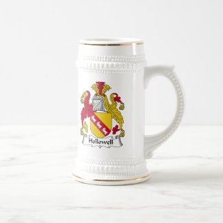 Escudo de la familia de Hollowell Jarra De Cerveza