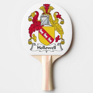 Escudo de la familia de Hollowell Pala De Tenis De Mesa