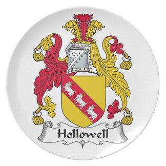 Escudo de la familia de Hollowell Plato