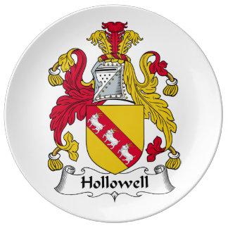 Escudo de la familia de Hollowell Platos De Cerámica