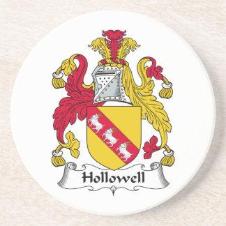 Escudo de la familia de Hollowell Posavasos Personalizados