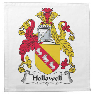 Escudo de la familia de Hollowell Servilletas Imprimidas