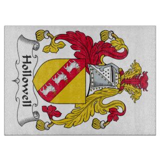 Escudo de la familia de Hollowell Tablas Para Cortar