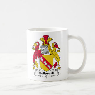 Escudo de la familia de Hollowell Tazas De Café