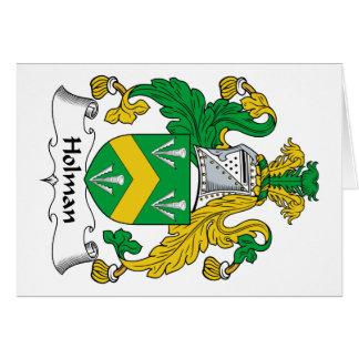 Escudo de la familia de Holman Tarjeta De Felicitación