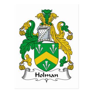 Escudo de la familia de Holman Tarjetas Postales