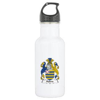 Escudo de la familia de Holme Botella De Agua