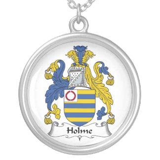 Escudo de la familia de Holme Collar Plateado