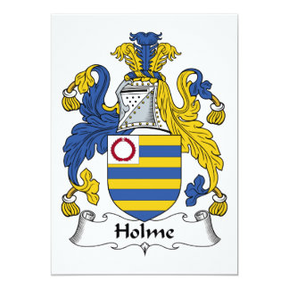 """Escudo de la familia de Holme Invitación 5"""" X 7"""""""