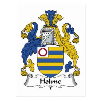 Escudo de la familia de Holme Tarjetas Postales