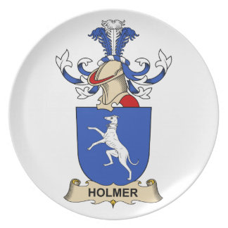 Escudo de la familia de Holmer Plato De Cena
