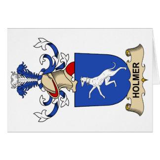 Escudo de la familia de Holmer Tarjeton