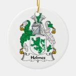 Escudo de la familia de Holmes Adorno De Navidad