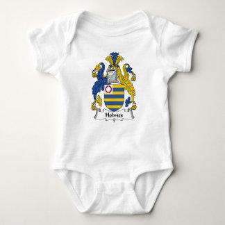 Escudo de la familia de Holmes Body Para Bebé
