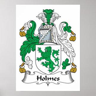 Escudo de la familia de Holmes Impresiones