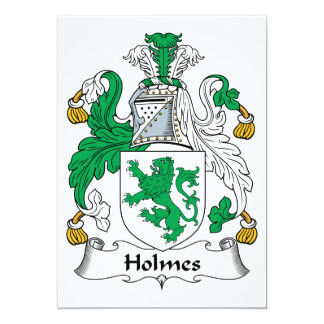 """Escudo de la familia de Holmes Invitación 5"""" X 7"""""""
